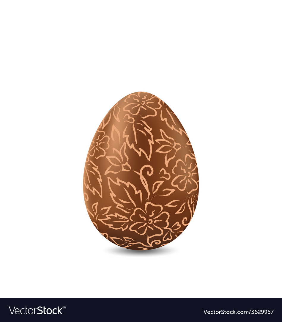 Easter chocolate egg in hand-drawn style isolated vector | Price: 1 Credit (USD $1)