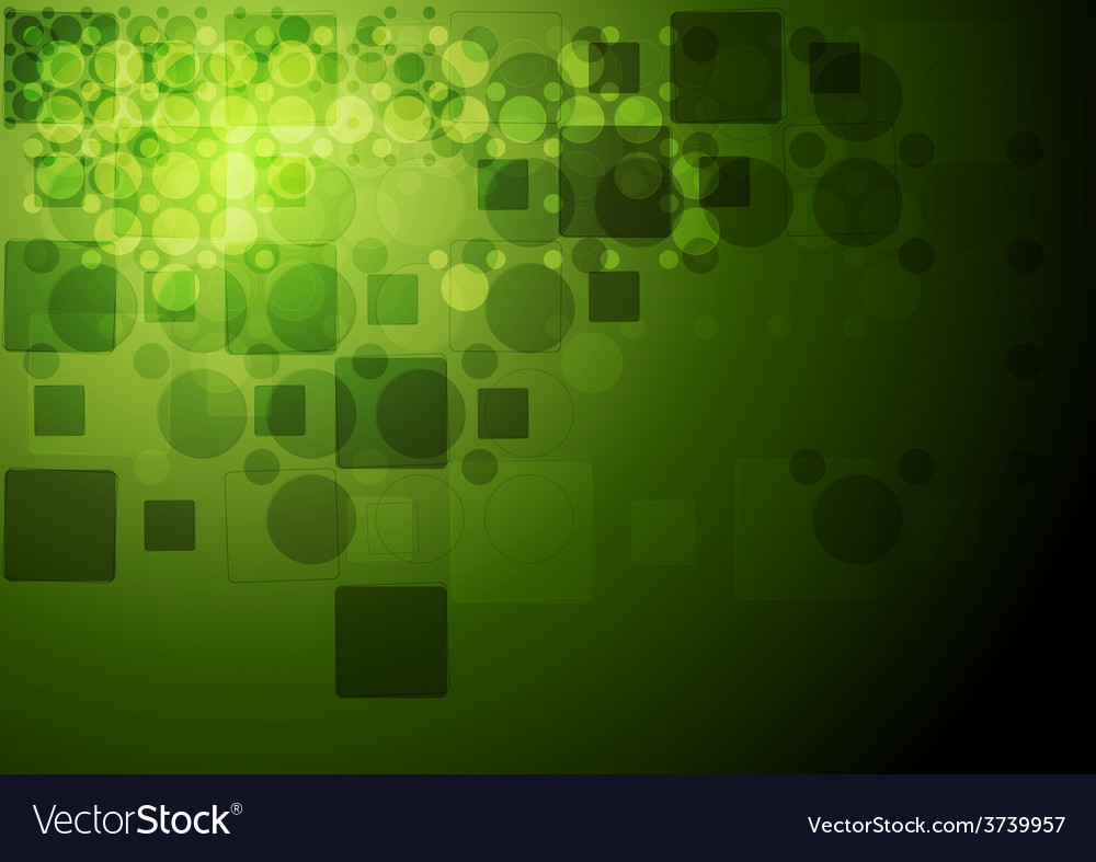 Green tech geometry background vector | Price: 1 Credit (USD $1)