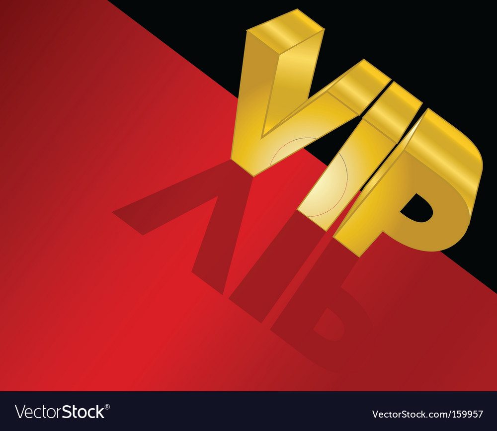 Letters spelling vip vector | Price: 1 Credit (USD $1)