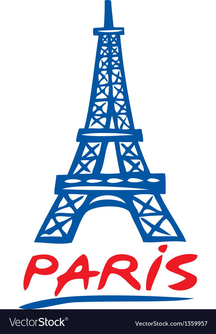 Paris eiffel tower design vector | Price: 1 Credit (USD $1)