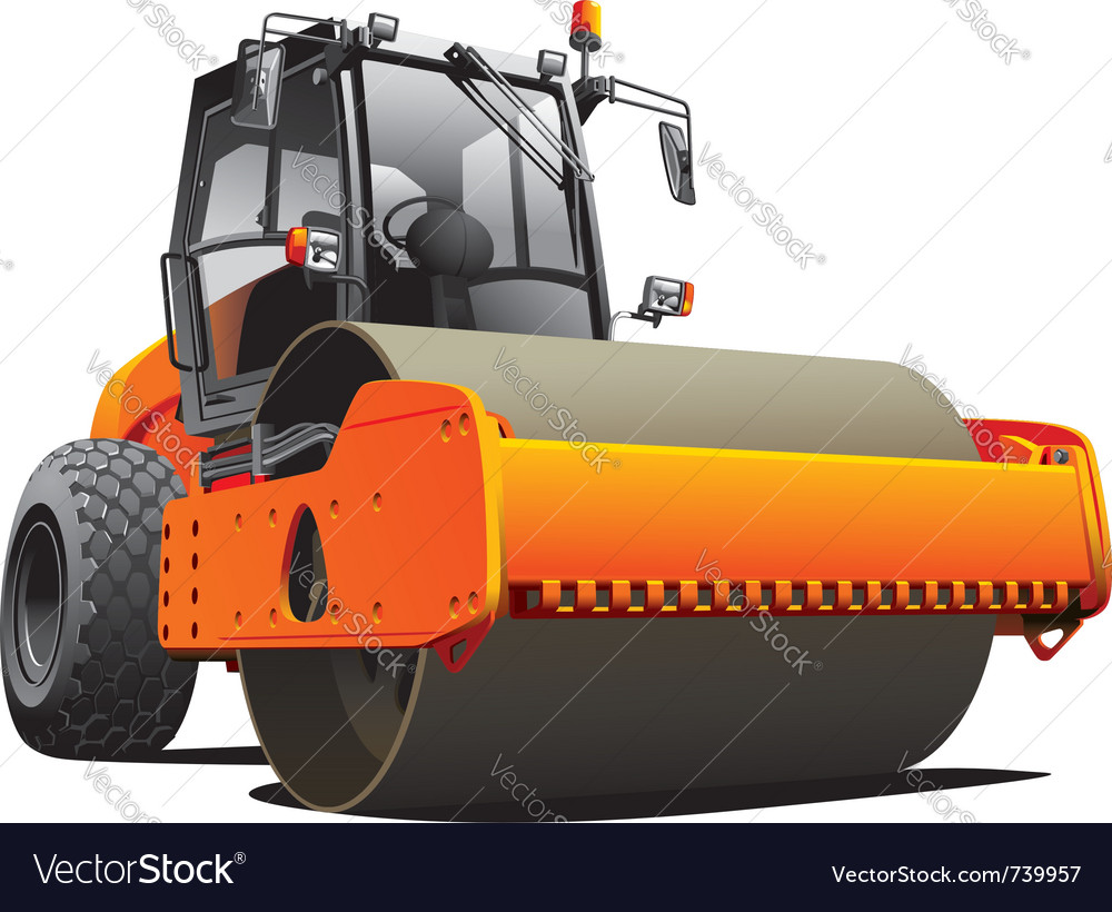 Road work compactor roller vector | Price: 5 Credit (USD $5)