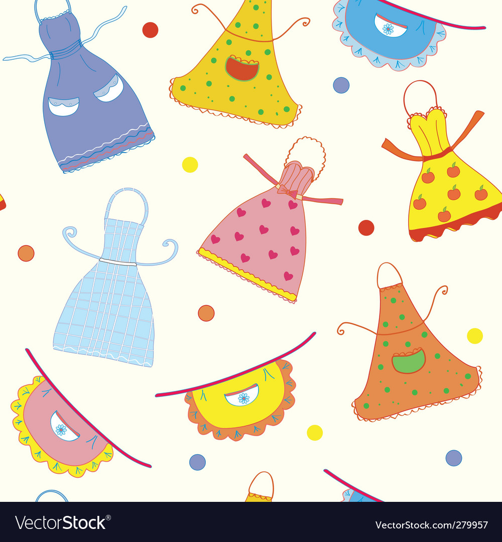 Seamless pattern with apron vector | Price: 1 Credit (USD $1)