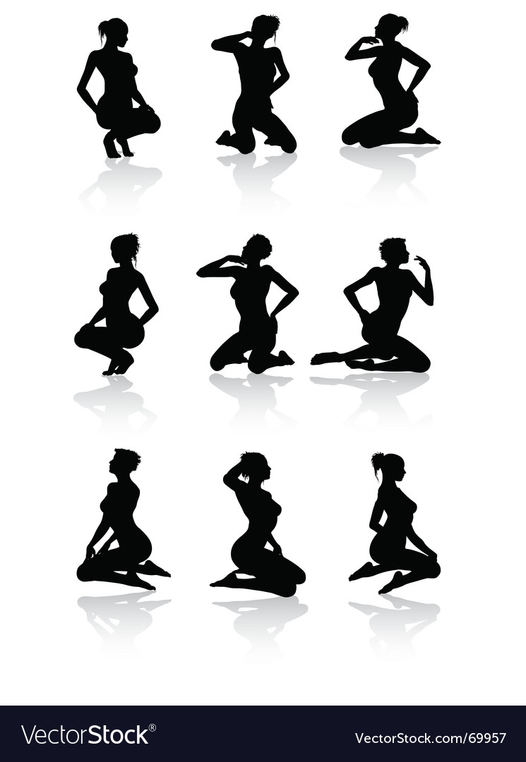 Sitting woman vector | Price: 1 Credit (USD $1)