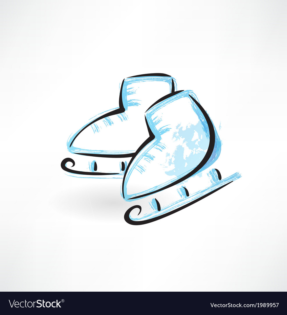 Skates grunge icon vector | Price: 1 Credit (USD $1)