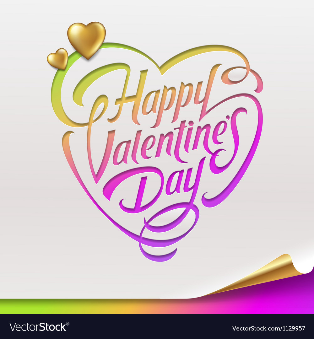 Valentines day greeting sign - vector | Price: 1 Credit (USD $1)