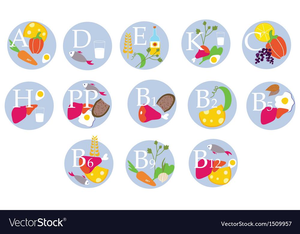 Vitamins table vector | Price: 1 Credit (USD $1)