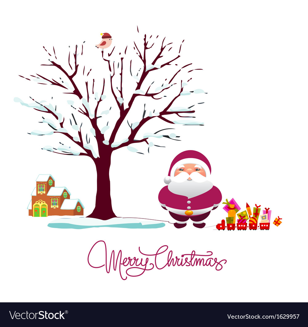 Winter holiday card vector | Price: 1 Credit (USD $1)