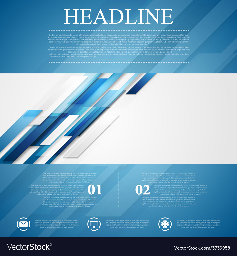 Blue shiny hi-tech flyer background vector | Price: 1 Credit (USD $1)
