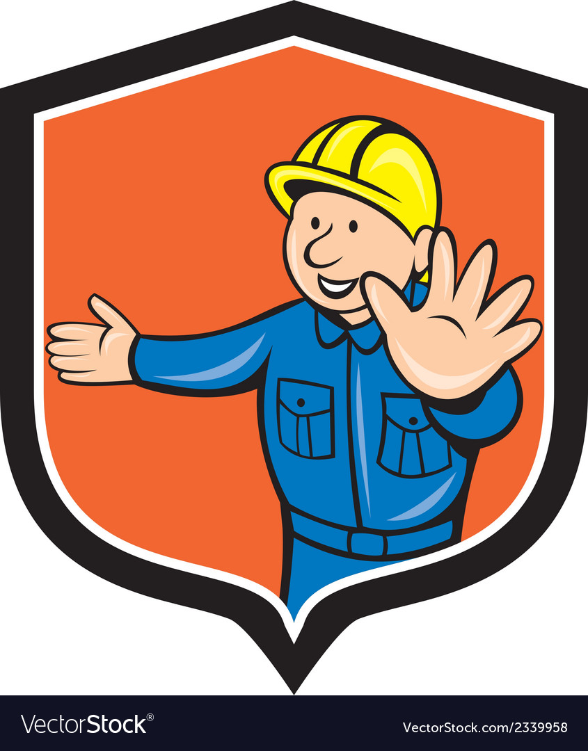Builder carpenter hands out cartoon vector | Price: 1 Credit (USD $1)