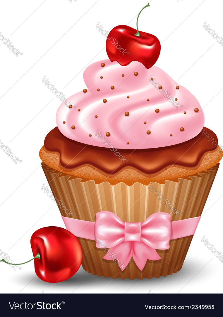 Cupcake vector | Price: 3 Credit (USD $3)