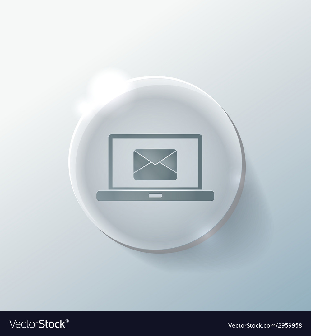 Laptop with letter envelope vector | Price: 1 Credit (USD $1)