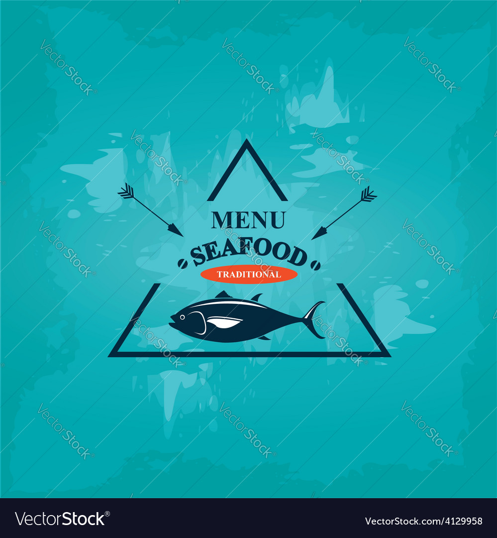 Seafood cafe menu template design vector | Price: 1 Credit (USD $1)