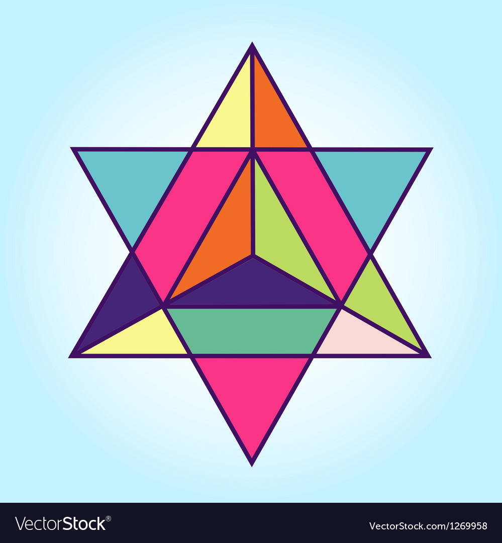 Star tetrahedron vector | Price: 1 Credit (USD $1)