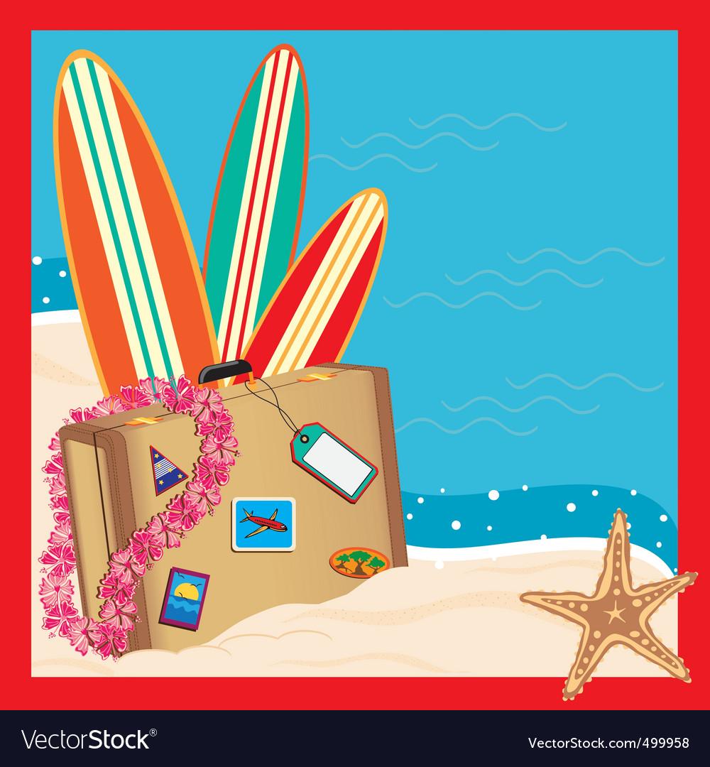 Tropical vacation invitation vector | Price: 3 Credit (USD $3)