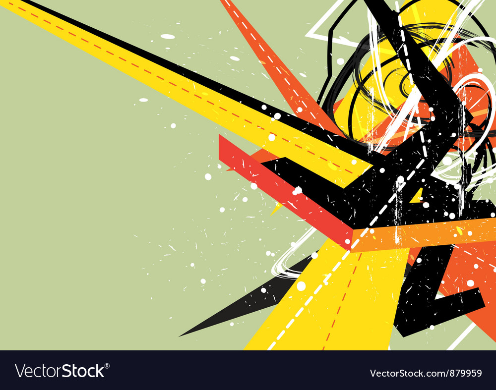 Abstract colorful arrow vector | Price: 1 Credit (USD $1)