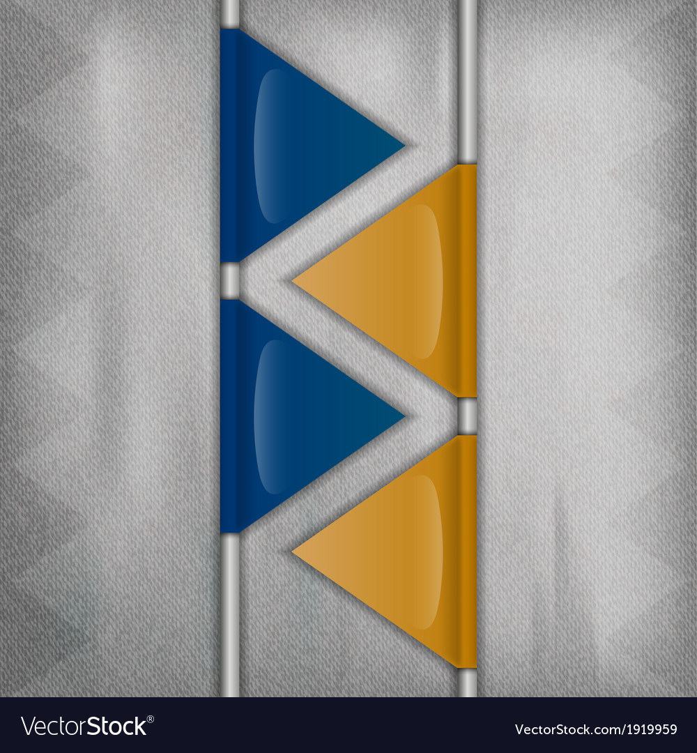 Business triangles blue yellow ii vector | Price: 1 Credit (USD $1)