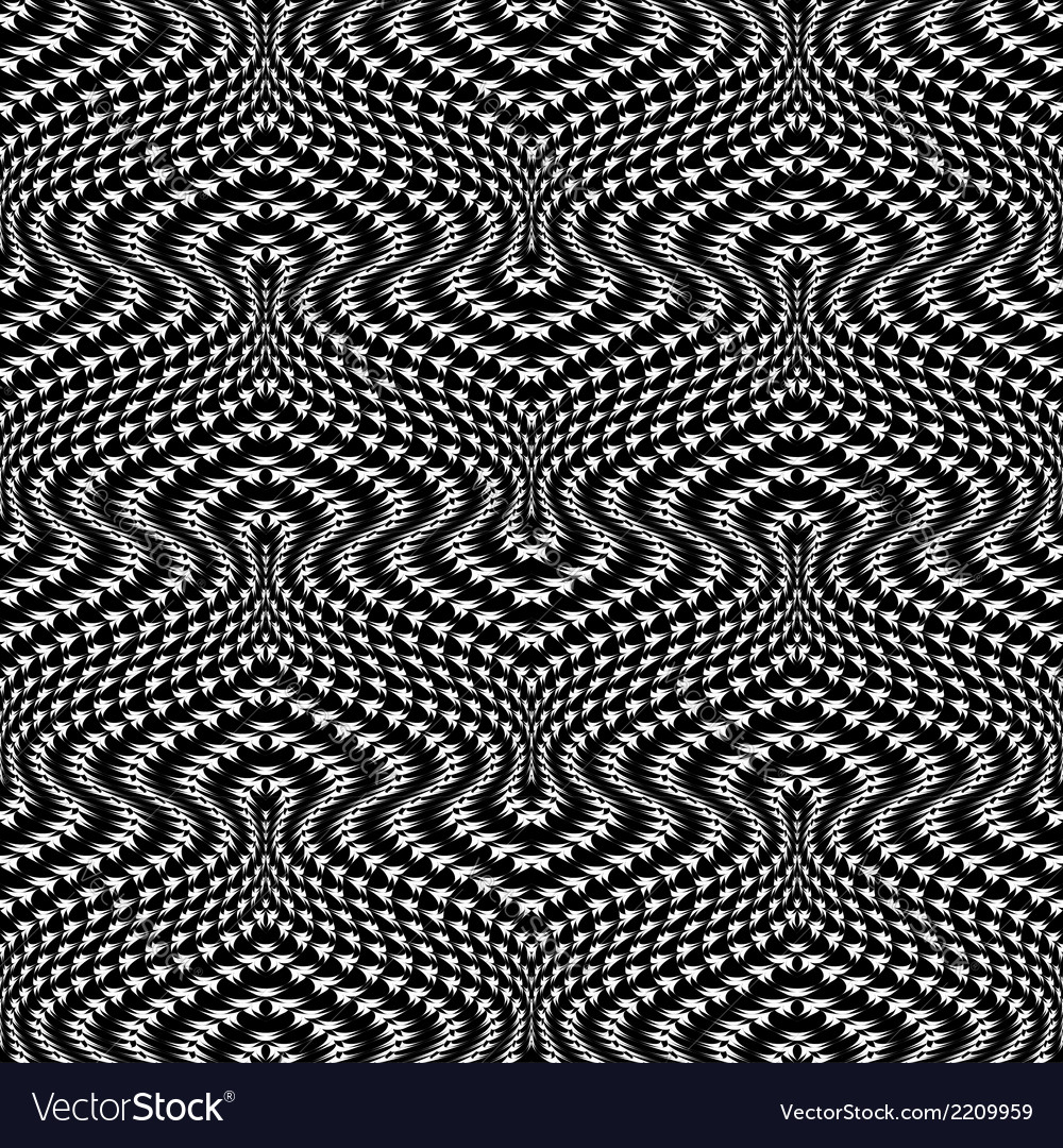 Design seamless monochrome trellised pattern vector | Price: 1 Credit (USD $1)