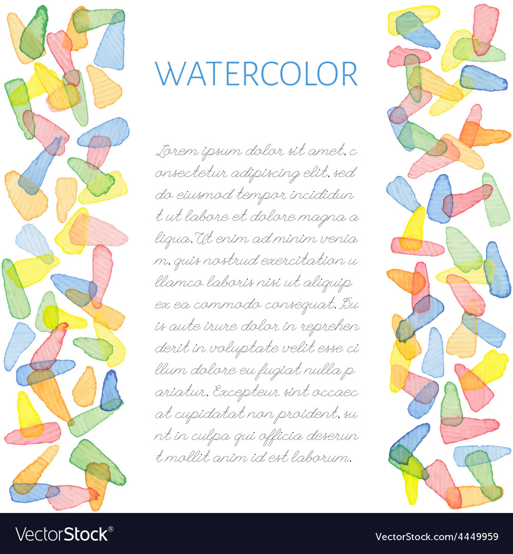 Hand painted water color card vector | Price: 1 Credit (USD $1)
