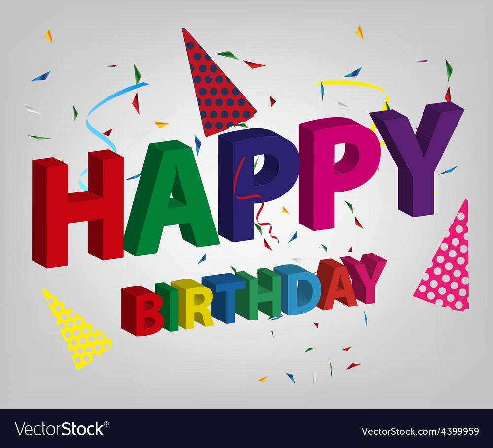 Happy birthday background vector | Price: 3 Credit (USD $3)