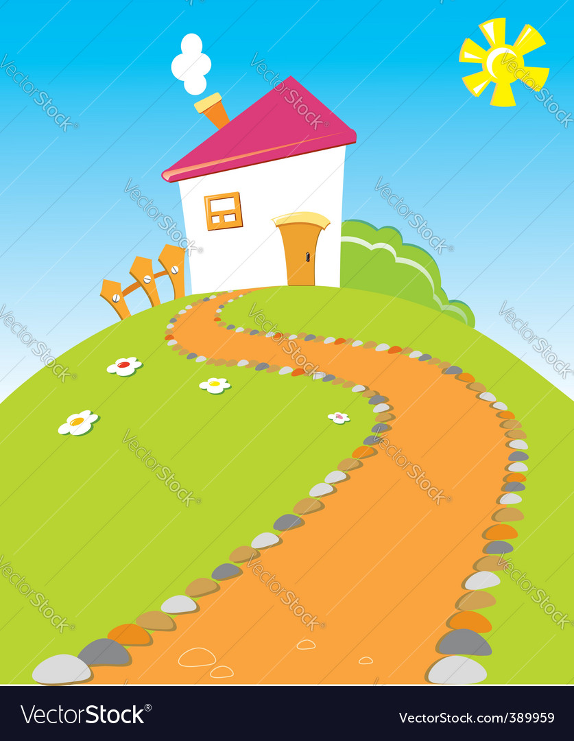 House road vector | Price: 1 Credit (USD $1)