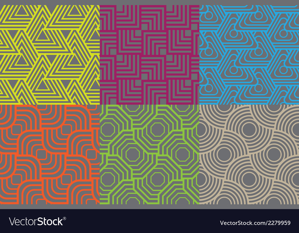 Line overlapping patterns style vector | Price: 1 Credit (USD $1)