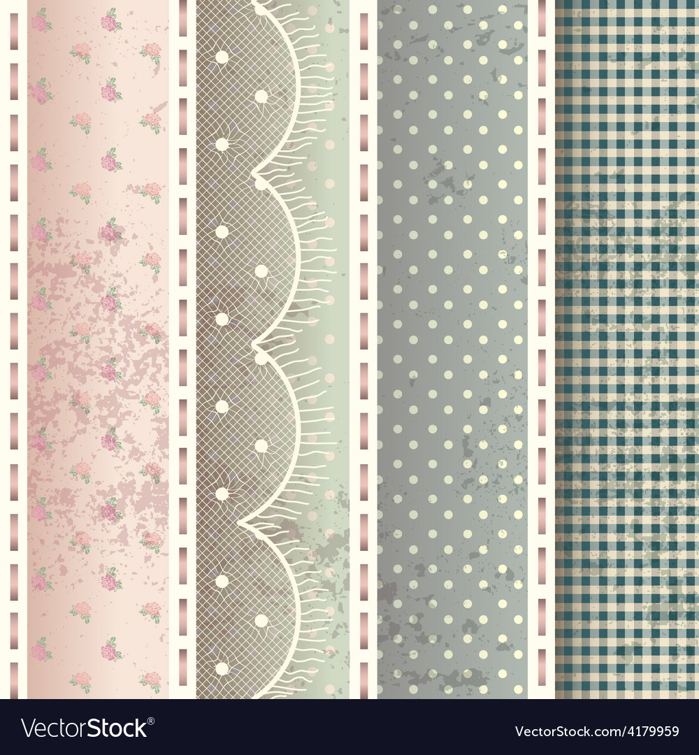 Pattern in shabby chic style vector | Price: 1 Credit (USD $1)