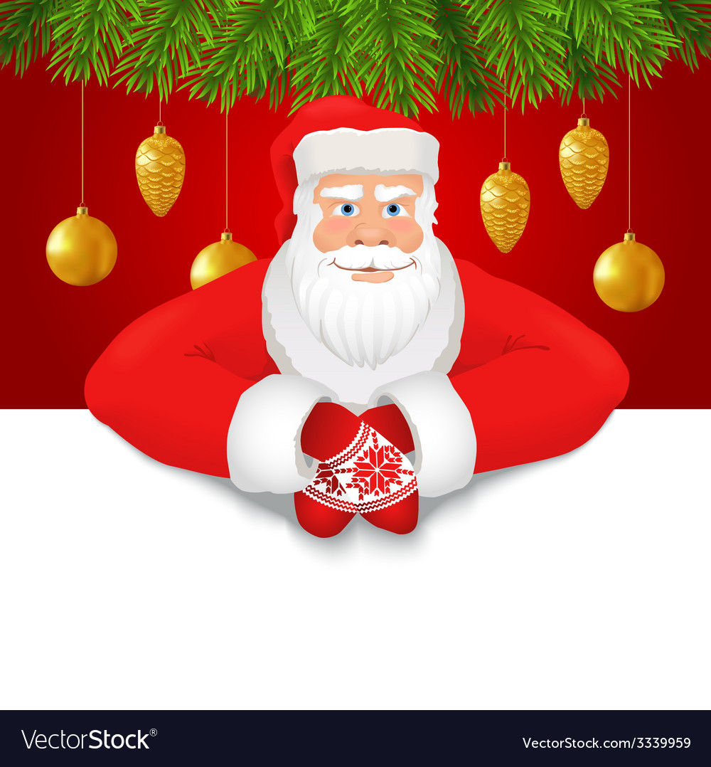 Santa claus copy space red background vector | Price: 3 Credit (USD $3)