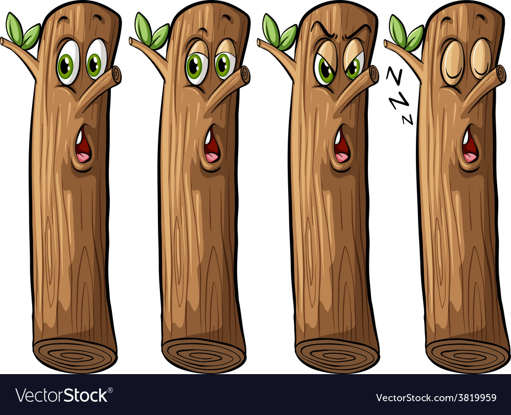 Set of logs vector | Price: 1 Credit (USD $1)