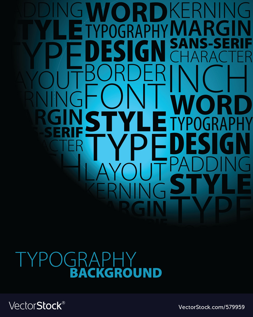 Typeface poster vector | Price: 1 Credit (USD $1)