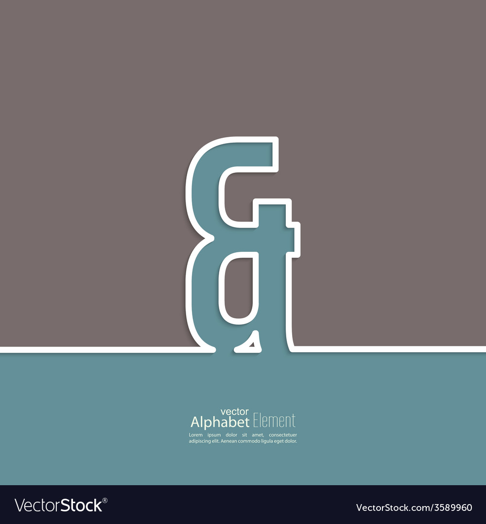 Ampersand symbol vector | Price: 1 Credit (USD $1)