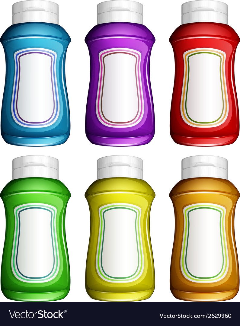 Colourful water jugs vector | Price: 1 Credit (USD $1)