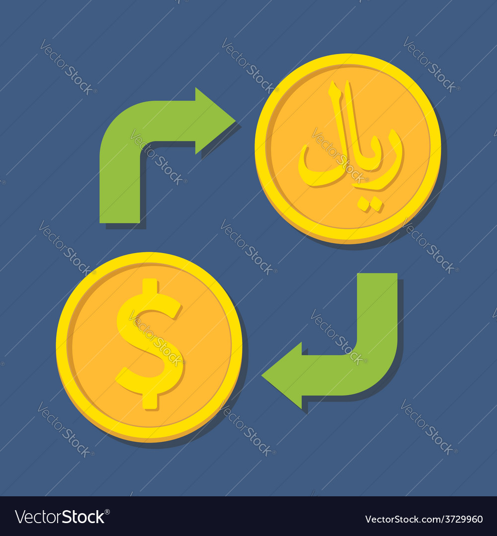 Currency exchange dollar and rial vector | Price: 1 Credit (USD $1)