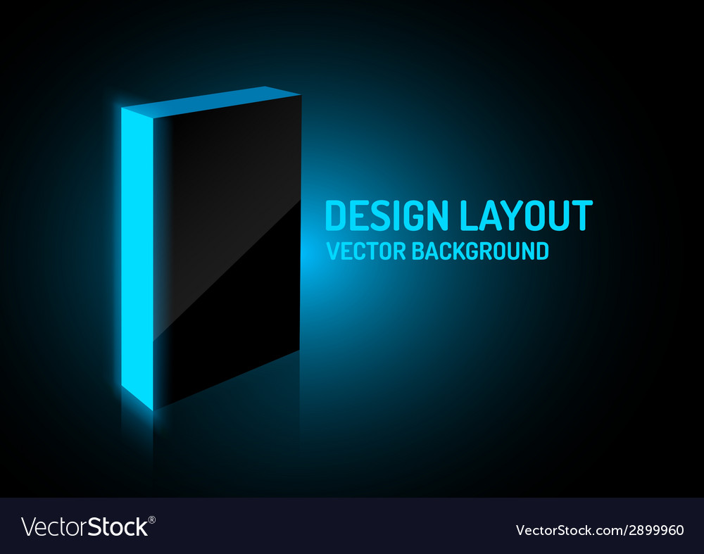 Design box blue vector | Price: 1 Credit (USD $1)