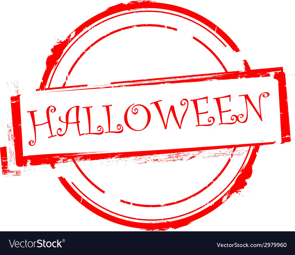 Halloween offer rubber stamp on white vector | Price: 1 Credit (USD $1)