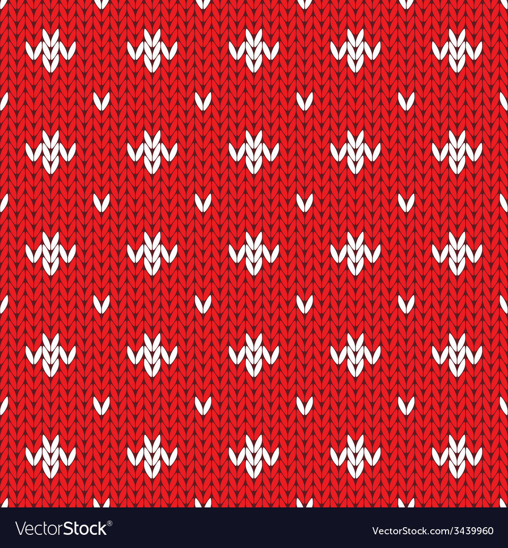 Knitted pattern seamless background vector   Price: 1 Credit (USD $1)
