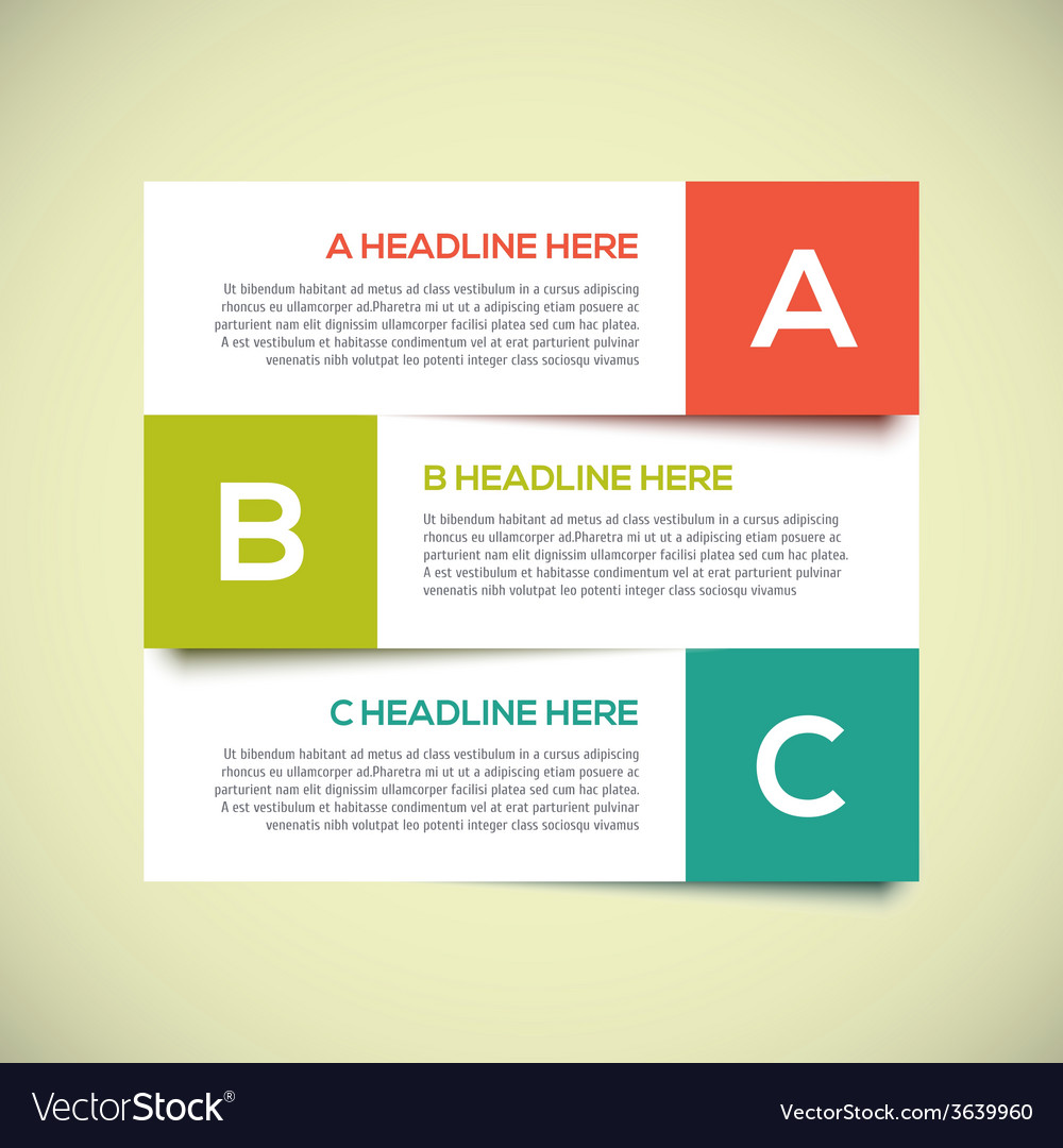 Modern infographics design layout with shadow vector