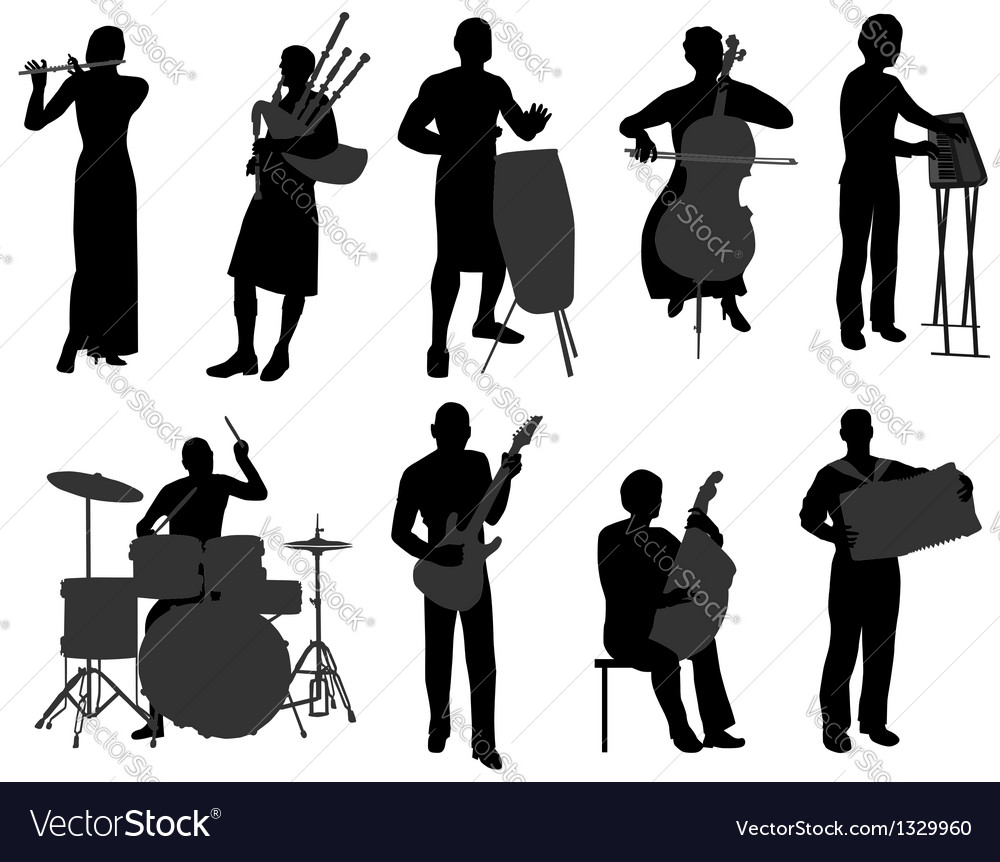 Musicians 2 vector | Price: 1 Credit (USD $1)