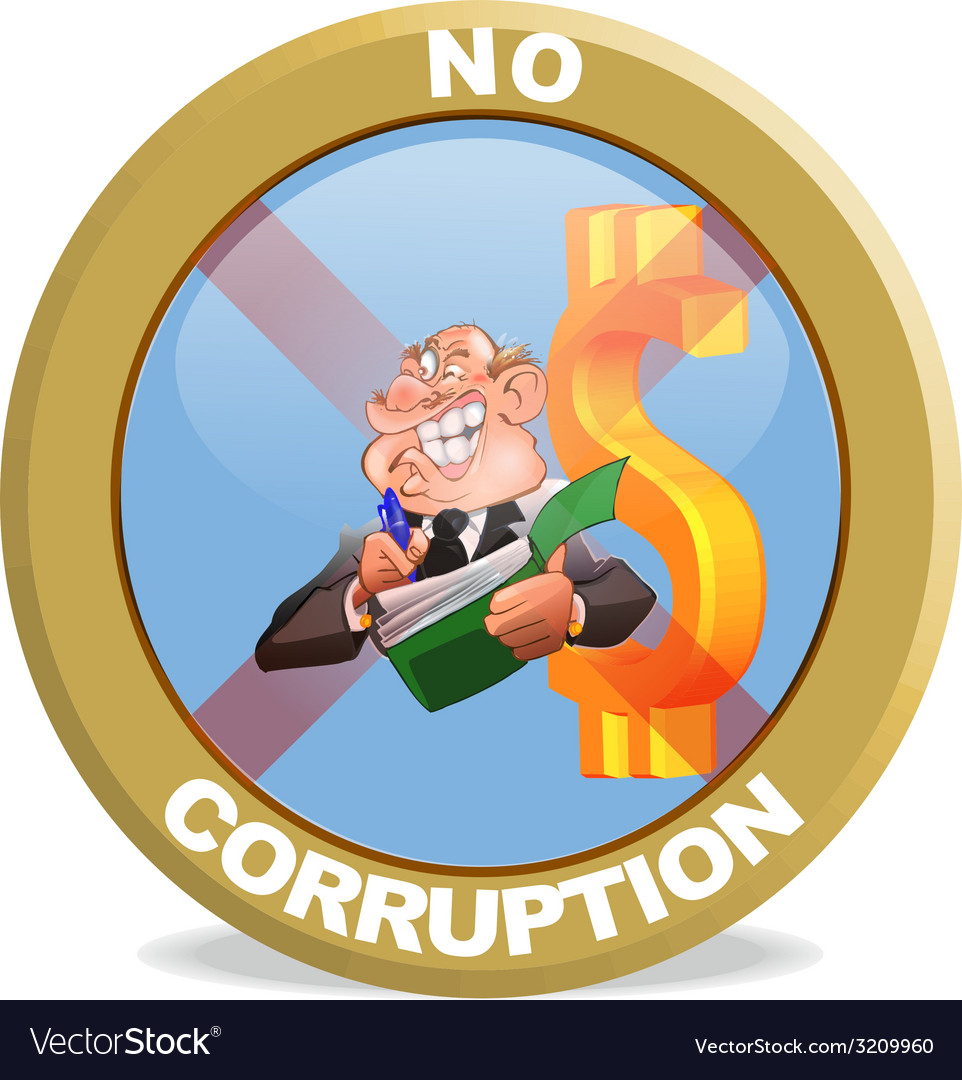 No corruption badge vector | Price: 1 Credit (USD $1)