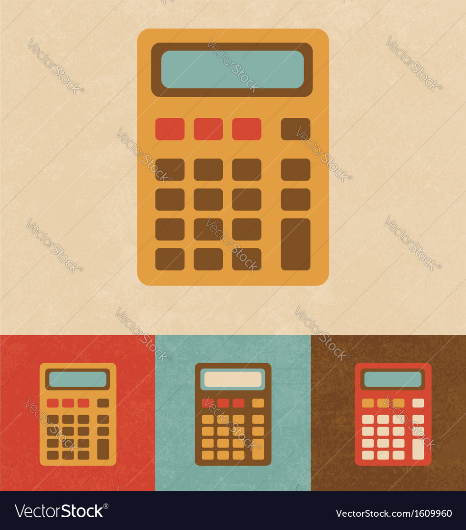 Retro calculator vector | Price: 1 Credit (USD $1)