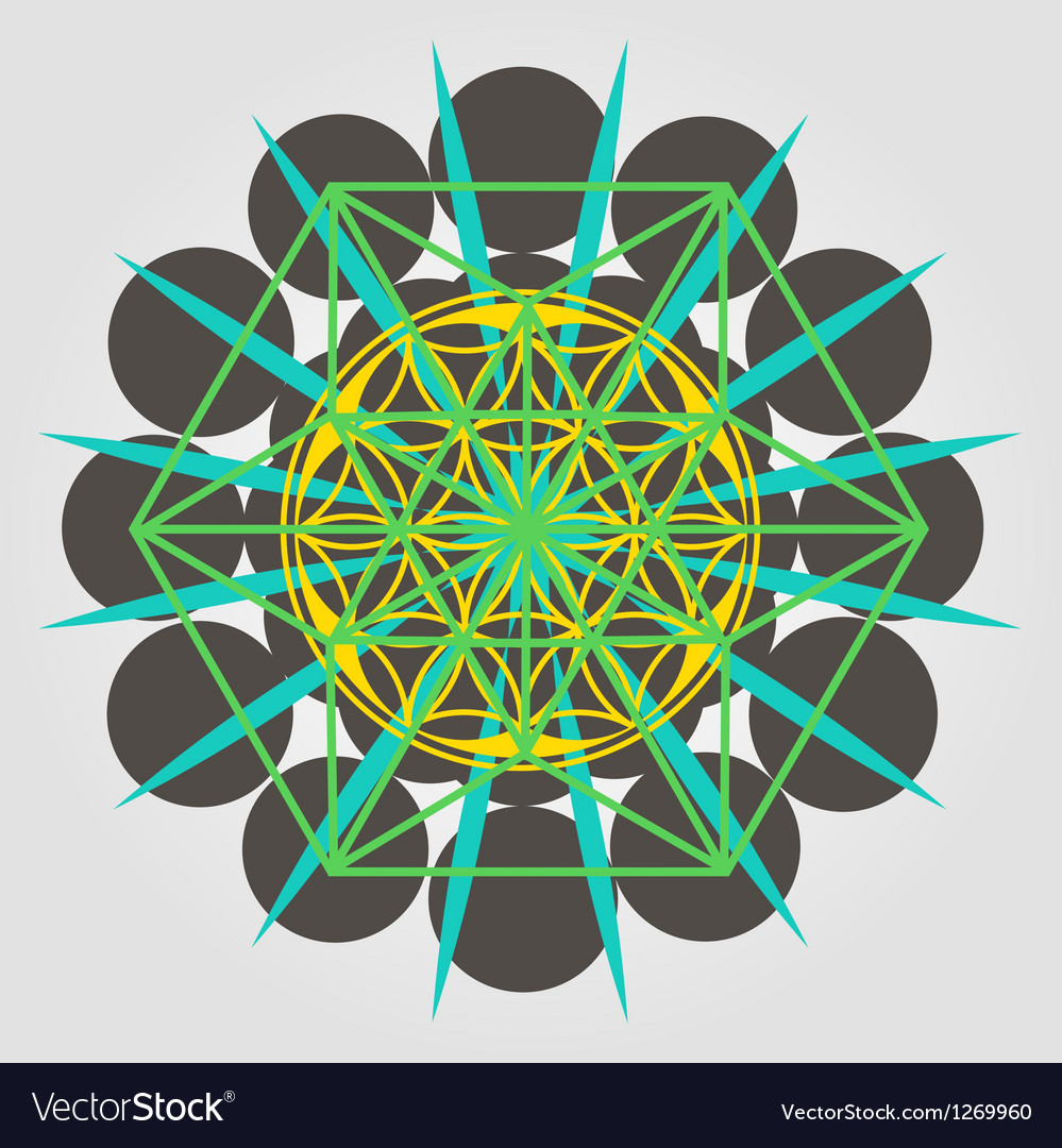 Unique geometrical design with sacral sense vector | Price: 1 Credit (USD $1)