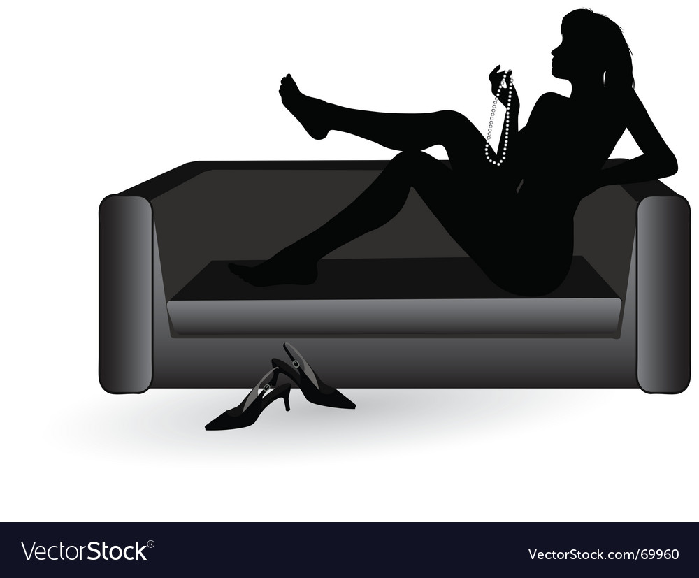 Woman on the sofa vector | Price: 1 Credit (USD $1)