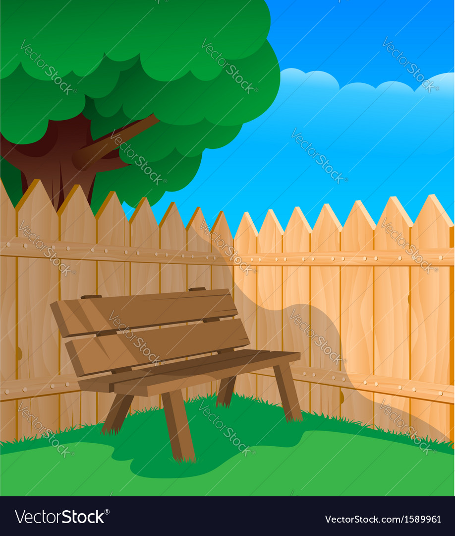Bench and a fence vector | Price: 1 Credit (USD $1)
