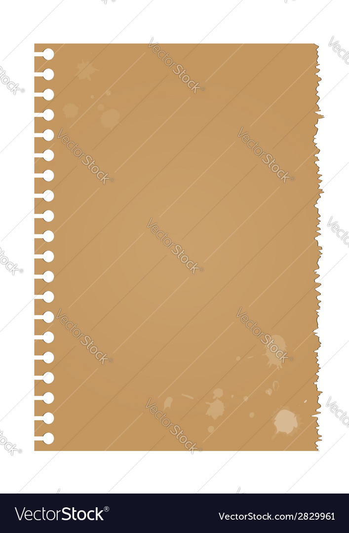 Dirty torn paper vector | Price: 1 Credit (USD $1)