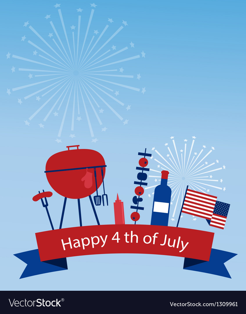 Happy independence day of america vector | Price: 1 Credit (USD $1)