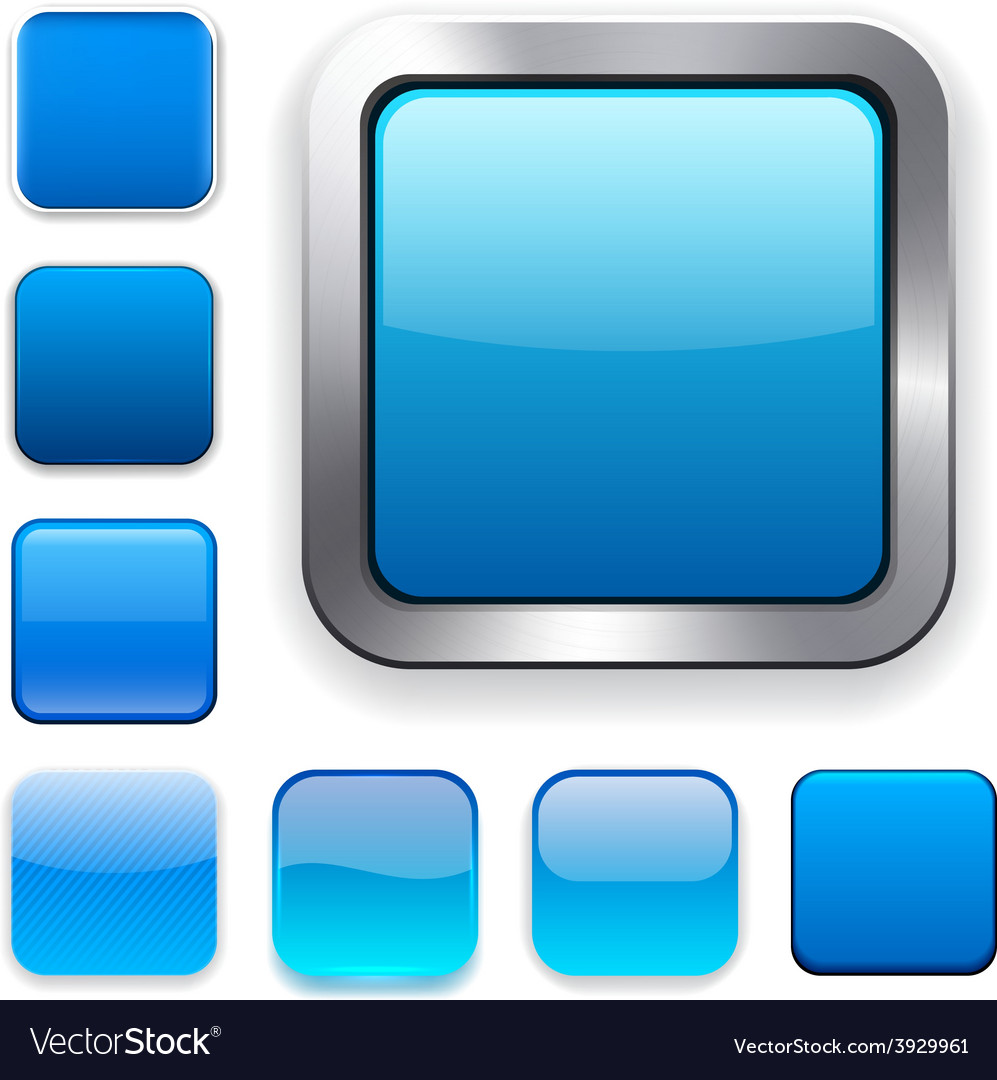 Square blue app icons vector | Price: 1 Credit (USD $1)