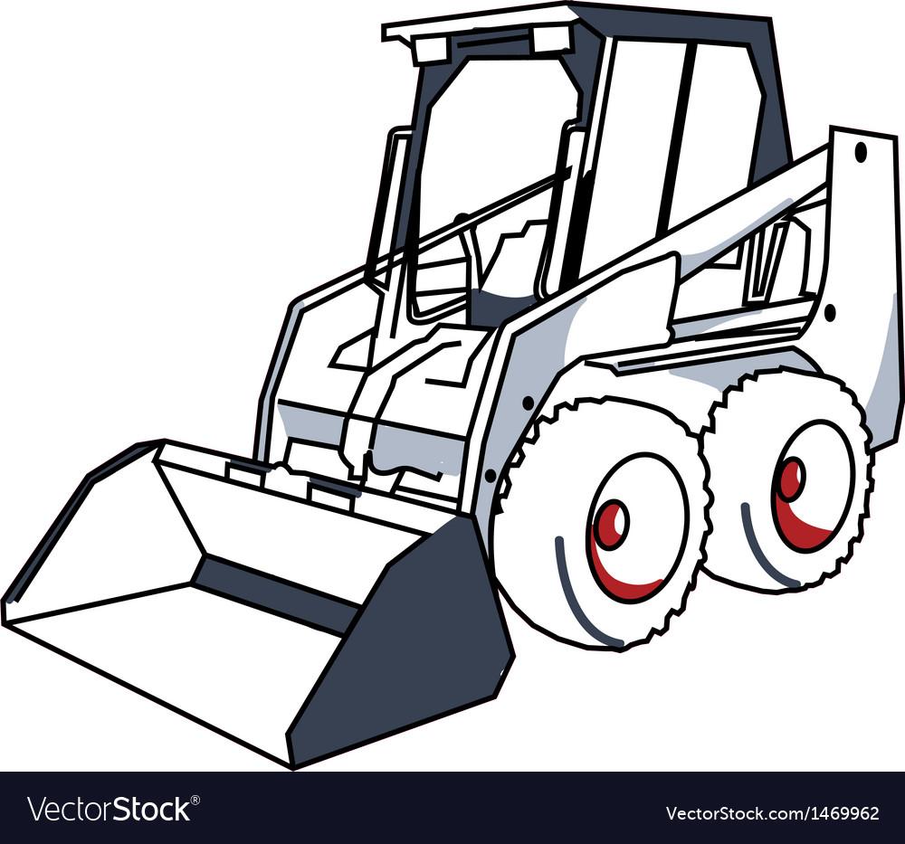 Bobcat mini excavator vector | Price: 1 Credit (USD $1)