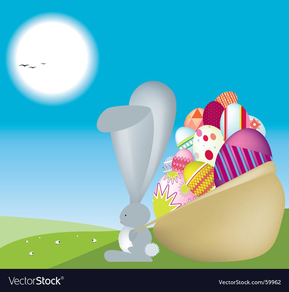 Bunny sack vector | Price: 1 Credit (USD $1)