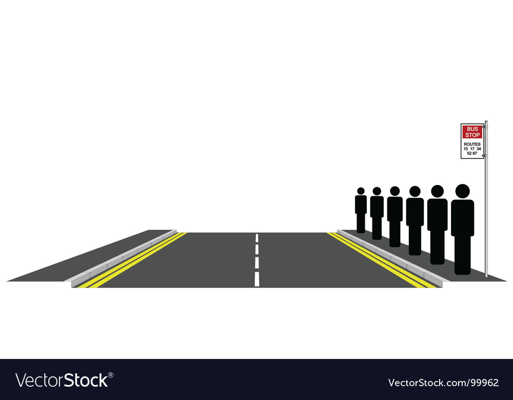 Bus queue vector | Price: 1 Credit (USD $1)
