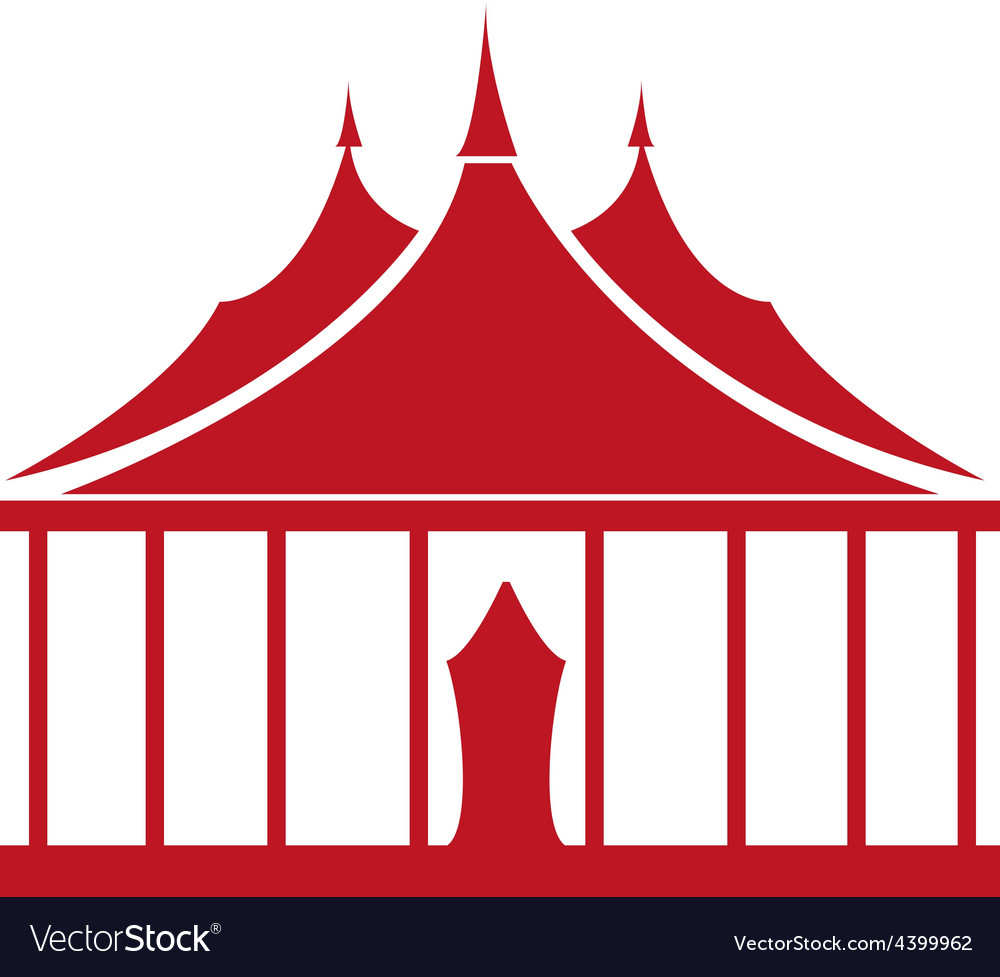 Circus tent vector | Price: 3 Credit (USD $3)