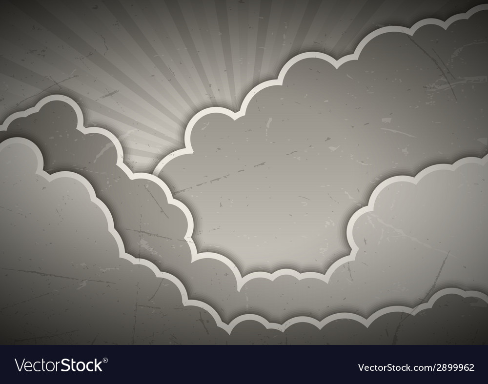 Clouds gray vector | Price: 1 Credit (USD $1)